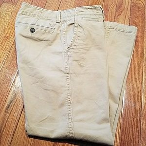 Men's tan relaxed straight jeans from AE Oitfitter